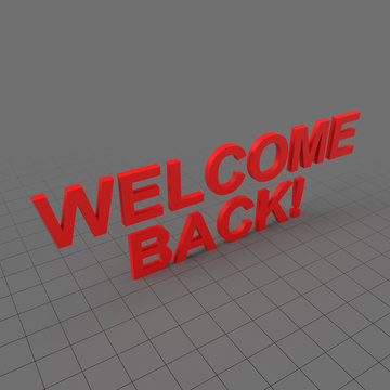 Welcome back words