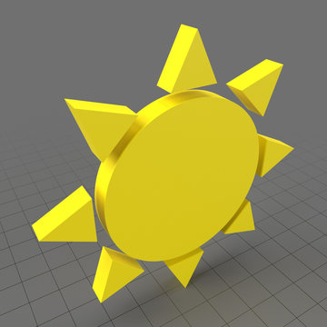 Sunny weather symbol