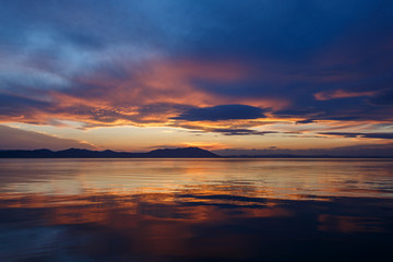 サロマ湖の夕景