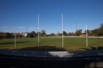 Empty Suburban AFL Football Ground