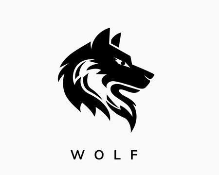 Head wolf art style logo design inspiration