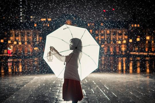 幻想的な雨のひと時。