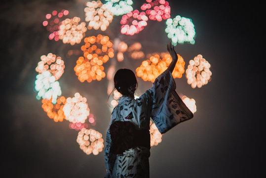 豊橋祇園祭の千輪花火。