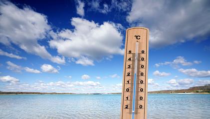 Wassertemperatur im Badesee