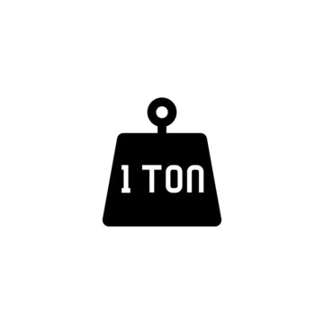 Tonne vector icon in black solid flat design icon isolated on white background
