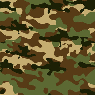 Camouflage seamless pattern.Military background. The print on the fabric. Vector