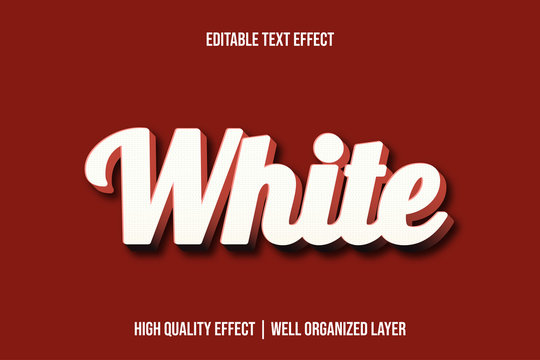 White 3d Editable Text Effect Font Style
