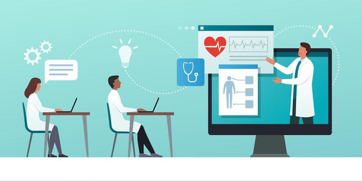 Online medical webinar