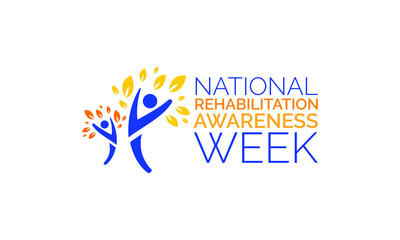 Vector illustration on the theme of National Rehabilitation awareness week observed each year in third full week of September.