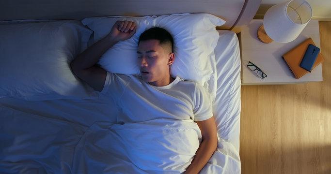 Man Snores At Night