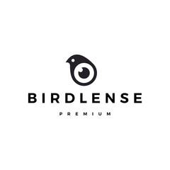 bird eye lens camera logo vector icon illustration