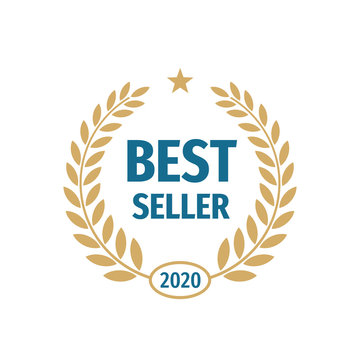 Best seller 2020 badge logo design.