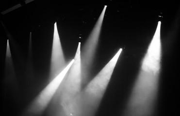 Fotomurales - Illuminated Lights In Darkroom