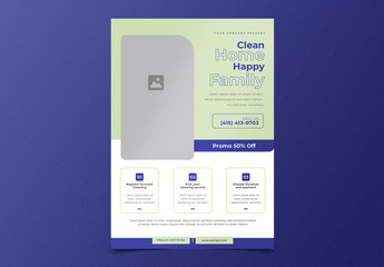 Cleaning Service Flyer Layout