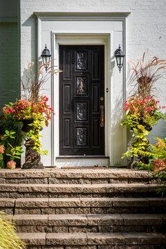 Doorway with elegant plant decor