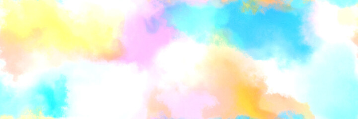 seamless abstract watercolor background with watercolor paint with linen, pale turquoise and light sky blue colors. can be used as web banner or background Wall mural