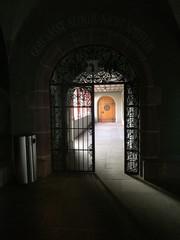 Canvas Prints Old Hospital Beelitz Open Gate In Corridor At Building