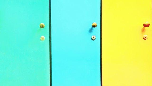 Full Frame Shot Of Locker Doors