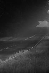 Foto auf Gartenposter Grau Verkehrs Empty Road Along Countryside Landscape