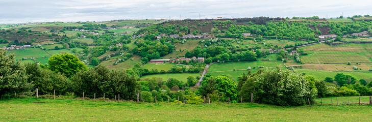 Green fields in Halifax, West Yorkshire
