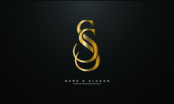 S ,SS  letters abstract logo monogram