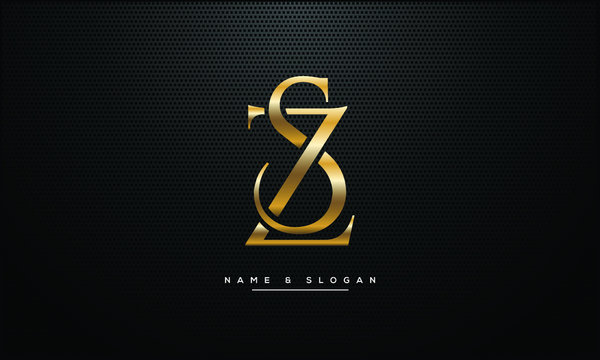 SZ ,ZS ,S ,Z letters abstract logo monogram