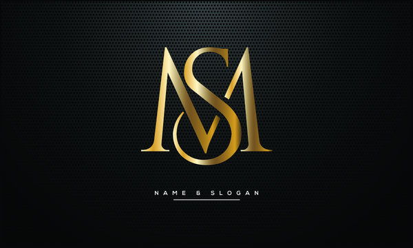MS ,SM ,M ,S letters abstract logo monogram