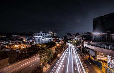 Fotomurales - Nightscape of Wellington, New Zealand