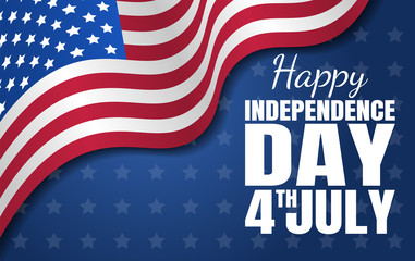 Happy Independence Day. Fourth of July. National holiday. Vector illustration