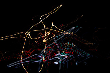 Fotomurales - Light Painting At Night