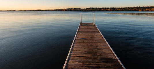 Fishing Pier On Shagawa Lake, Ely, Minnesota, USA