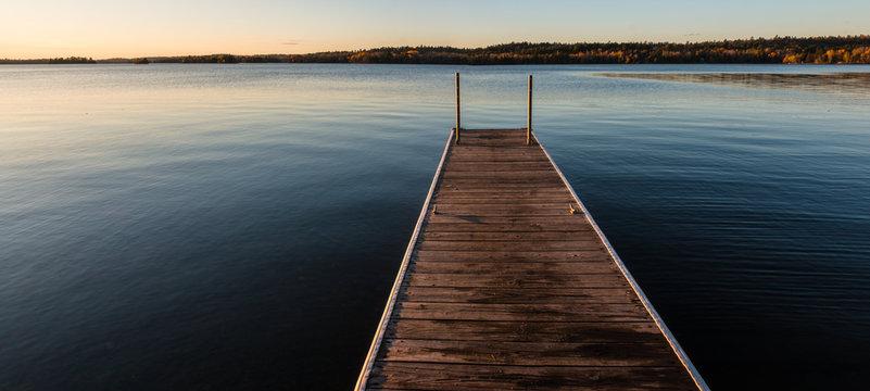 Fishing Pier On Shagawa Lake, Ely, Minnesota, USA