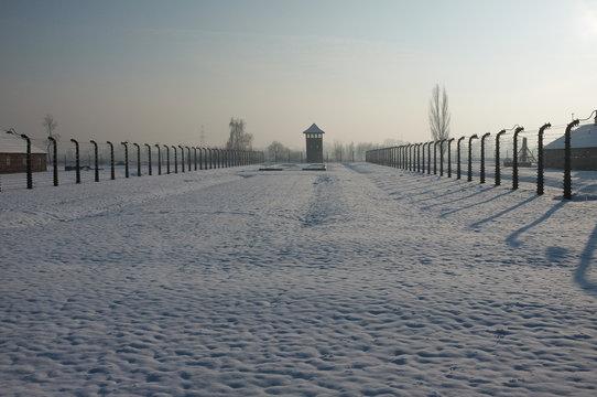 Snow Covered Beach Against Sky