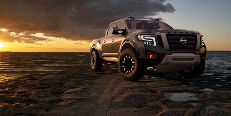 Powerful and modern Nissan Titan Warrior Concept.