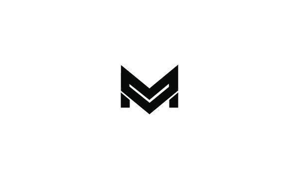 abstract M logo vector