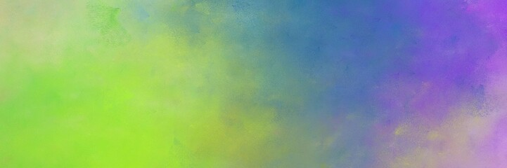 beautiful vintage abstract painted background with dark sea green, medium purple and slate blue colors and space for text or image. can be used as horizontal header or banner orientation Wall mural