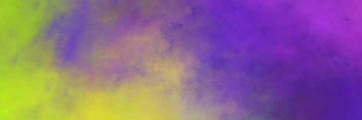 beautiful abstract painting background graphic with antique fuchsia, dark slate blue and yellow green colors and space for text or image. can be used as horizontal background graphic Wall mural