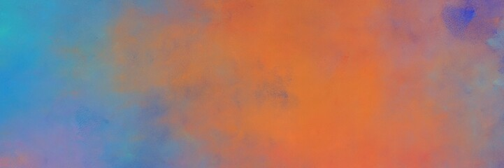 beautiful indian red, steel blue and cadet blue colored vintage abstract painted background with space for text or image. can be used as horizontal header or banner orientation Wall mural