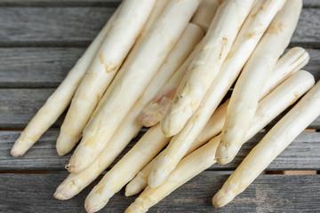 Fresh seasonal white asparagus