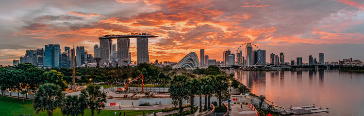 Singapore Marina Bay Sunset landscape