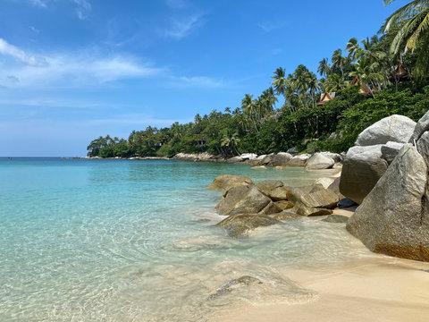 the wonderful beach of the luxury Surin Phuket  hotel, Phuket, Thailand