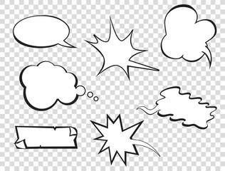 Set of pop art comic speeches vector bubble. Pop-art bubble bundle.