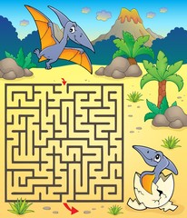 Poster Enfants Maze 3 with pterodactyls