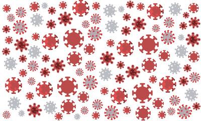 coronavirus pattern in different styles