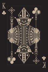 Kostki kart z czaszką króla. Plakat retro w stylu pop-artu