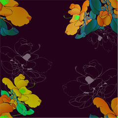 Seamless pattern. Camellia flower. Vector illustration. Perfumery and cosmetic plants. Wallpaper. Use printed materials, signs, posters, postcards, packaging.