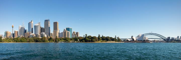 Aluminium Prints Sydney City At Waterfront Against Blue Sky