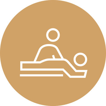 Spa Massage Table Outline Icon
