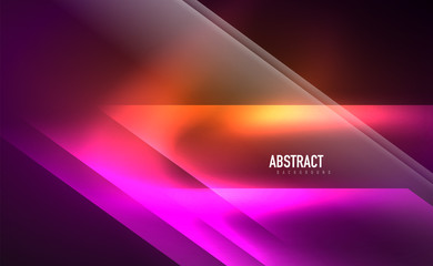 Keuken foto achterwand Wanddecoratie met eigen foto Dynamic neon shiny abstract background. Trendy abstract layout template for business or technology presentation, internet poster or web brochure cover, wallpaper