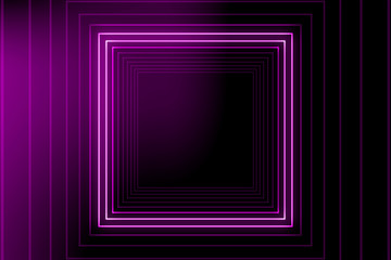 Square light tunnel for your backgrounds.Bright vibrant dots. laser illumination. Pink colors.